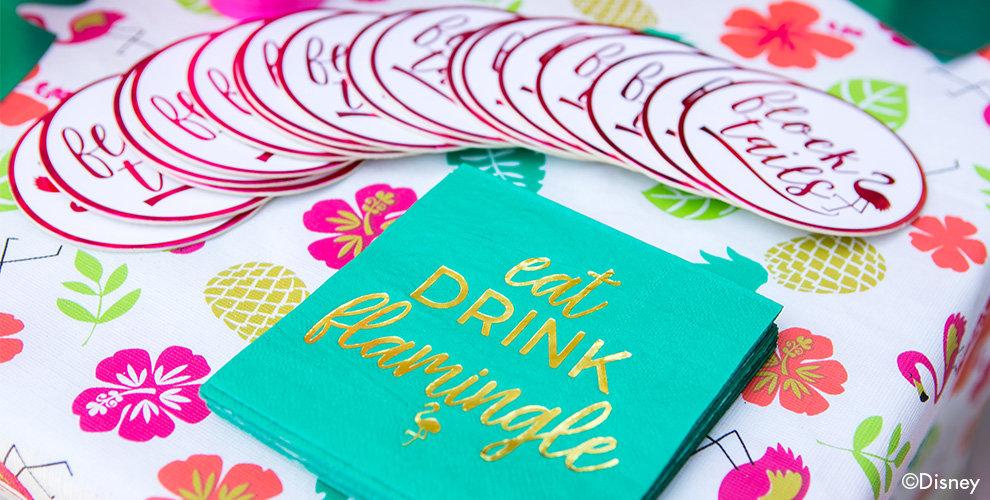 Pink Flamingo Party  Tableware