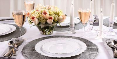 White Premium Scalloped Tableware & White Premium Scalloped Tableware | Party City