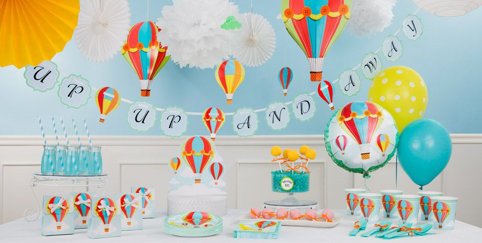 Up & Away Baby Shower Decorations