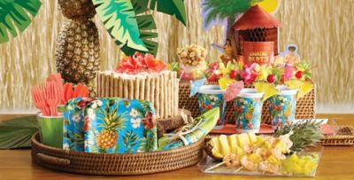 & Aloha Hawaiian Tableware - Luau Theme Party | Party City