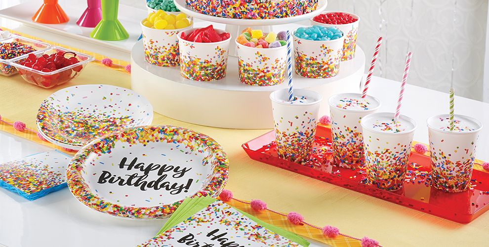 Rainbow Sprinkles Party Supplies