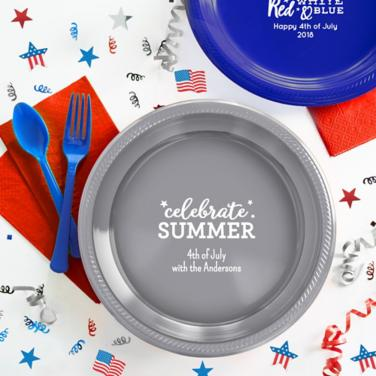 Personalized 4th of July Plates