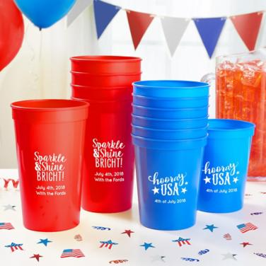 Personalized 4th of July Cups