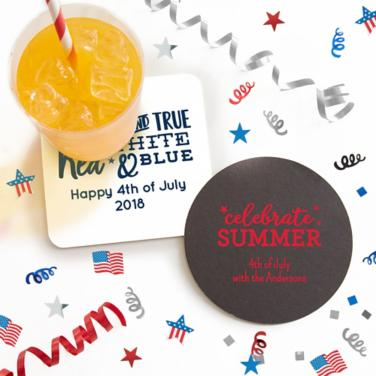 Personalized 4th of July Coasters