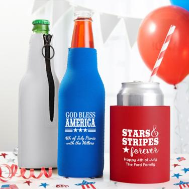 Personalized 4th of July Coozies