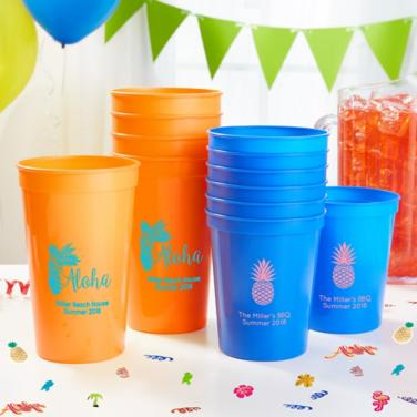 Personalized Luau Cups