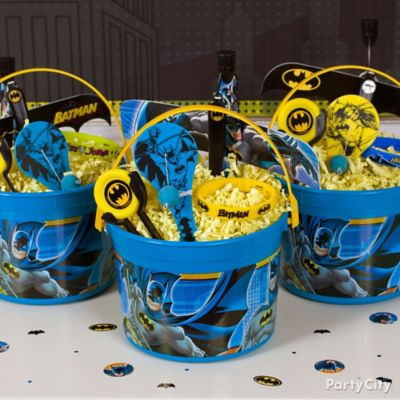 Batman Favor Bucket Idea Party City Party City