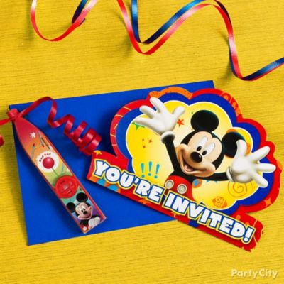 Mickey Mouse Invitations with a Surprise Idea Party City Party City