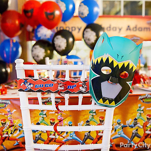 Power Rangers Chair Deco DIY