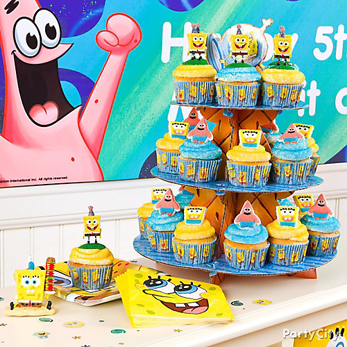 SpongeBob Cupcake Tower Idea