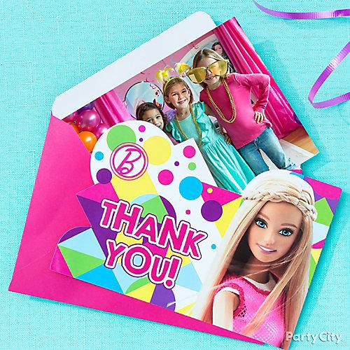 Barbie Photo Thank You Note Idea