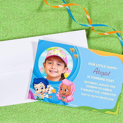 Bubble Guppies Custom Invite Idea