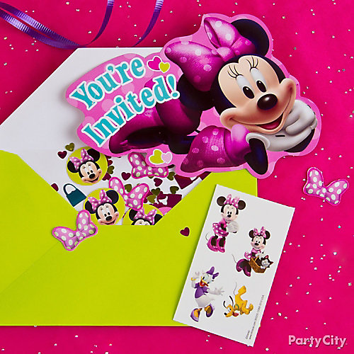 Minnie Mouse Invite with Surprise Idea