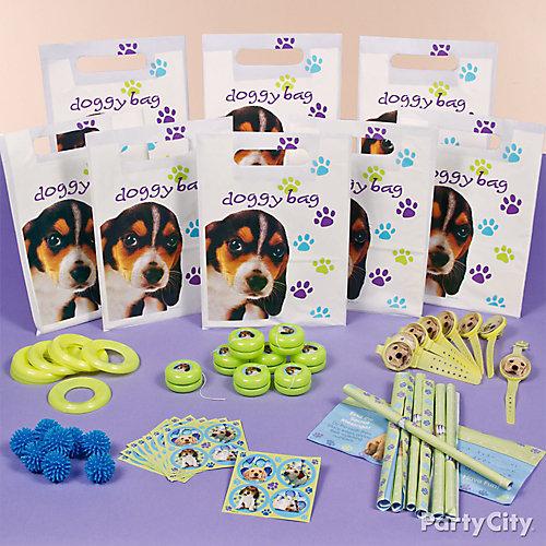 Party Pups Favor Pack for 8 Idea