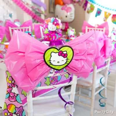 Hello Kitty Chair Deco DIY Party City Party City