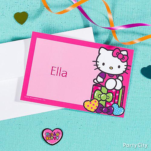 Hello Kitty Thank You Note Idea