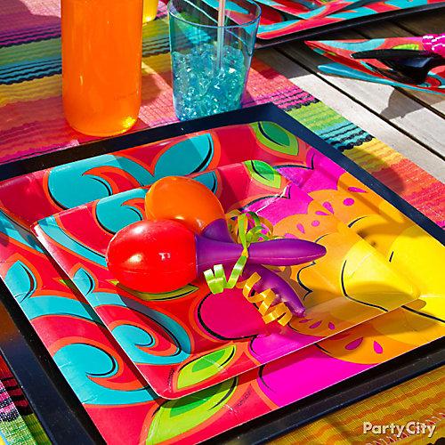 Fiesta Table Settings Idea