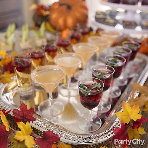 fall mini cocktails idea friendsgiving party ideas thanksgiving