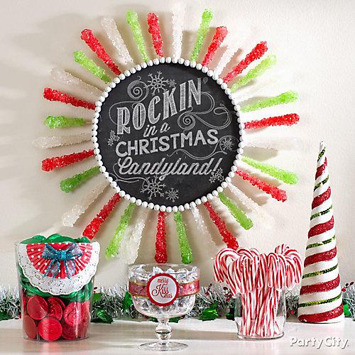 rock candy wreath diy diy wreath ideas christmas party ideas