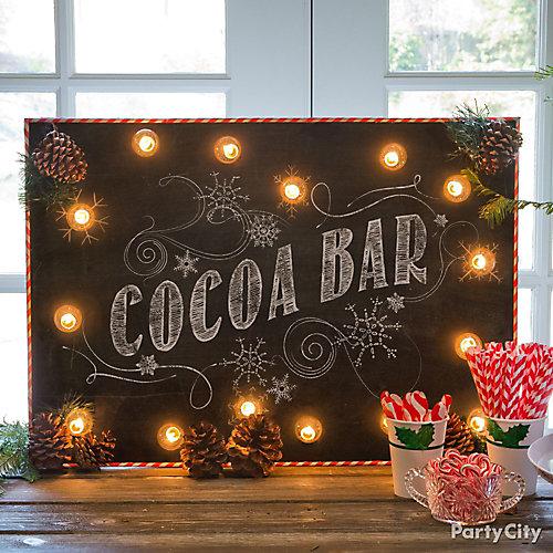 Cocoa Bar Sign DIY