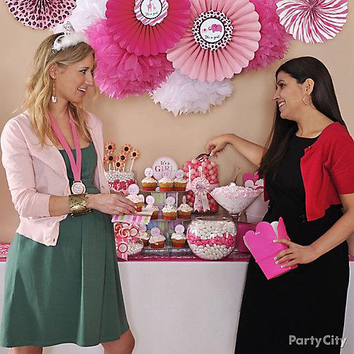 Girl Jungle Candy Buffet Idea