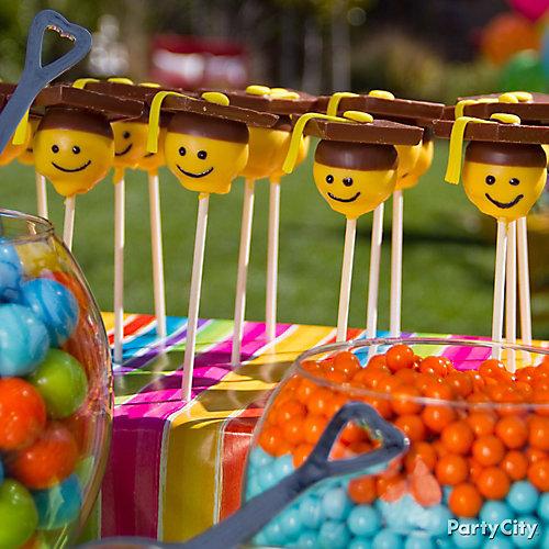 Smiley Face Commencement Pops Idea