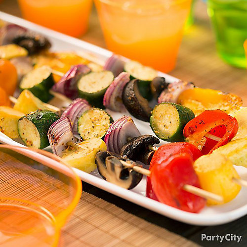 Summer Grilled Vegetable Kabobs How To