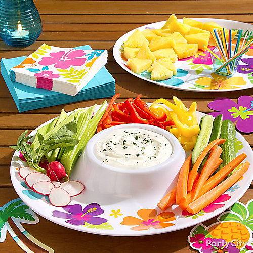 Tropical Vegetable Crudites Idea