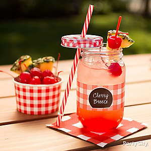 Outdoor BBQ Mason Jar Drink Idea