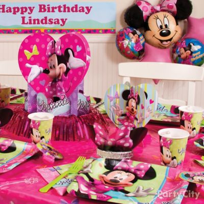 Minnie Mouse Party Table Idea Party City Party City