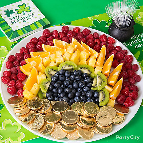 St. Patricks Day Rainbow Platter Idea