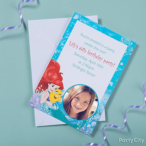 Little Mermaid Custom Invite