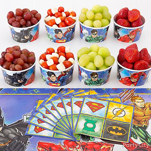 Justice League Super Fruit Snack Idea