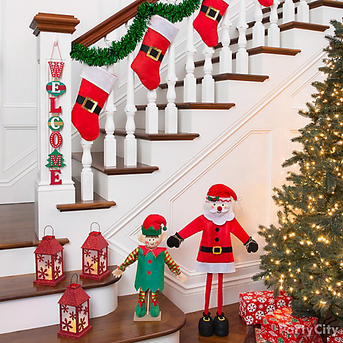 Stairway of Santa Stockings Idea
