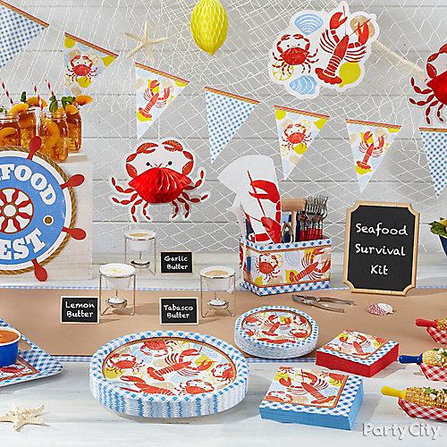 Seafood Table Idea