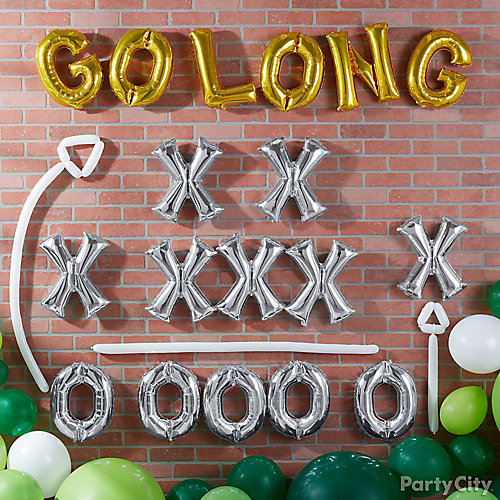 Football Party Letter Balloon Wall