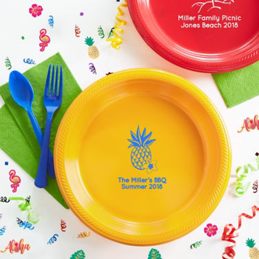 Personalized Summer Plates