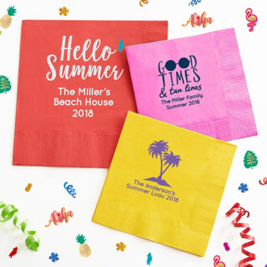 Personalized Summer Napkins