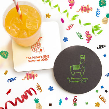 Personalized Summer Coasters