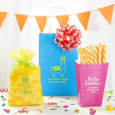 Personalized Summer Favor Bags & Boxes