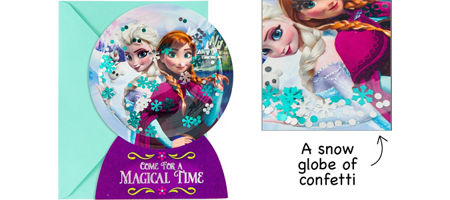 Frozen party supplies frozen birthday party ideas party city premium 3d frozen invitations 8ct solutioingenieria Image collections
