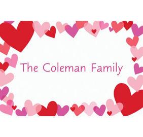 Custom Hearts Valentine\'s Day Invitations & Thank You Notes | Party City