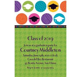 Colorful custom grad party invites idea colorful graduation party custom colorful commencement graduation invitations filmwisefo