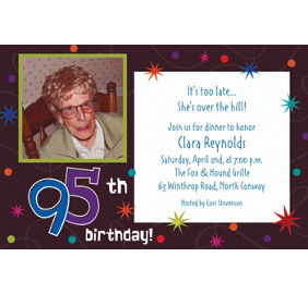 Custom the party continues 95th birthday invitations party city custom the party continues 95th photo invitations stopboris Image collections