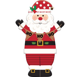 Santa theme party santa claus party supplies party city santa easel sign spiritdancerdesigns Image collections