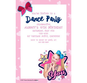 Custom jojo siwa invitations thank you notes banners party city custom jojo siwa invitation stopboris