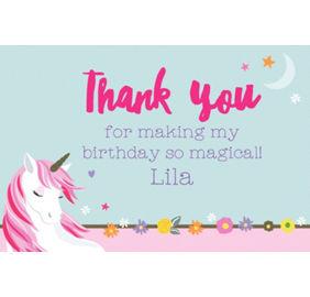 Magical unicorn invitations 8ct party city custom magical unicorn thank you note filmwisefo
