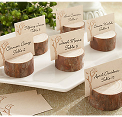 Country rustic wedding favors vintage wedding favors party city rustic tree wood place card holders junglespirit Gallery
