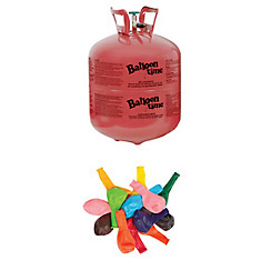Large Helium Tank 14.9cu ft Kit with Balloons & Ribbon