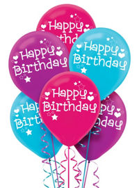 Bright Happy Birthday Balloons 6ct